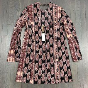NWT BCBGeneration Bell Sleeve Printed Mini Dress
